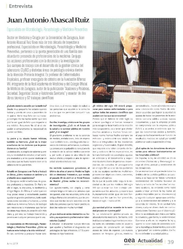 CEyDES en Actualidad de las empresas aragonesas